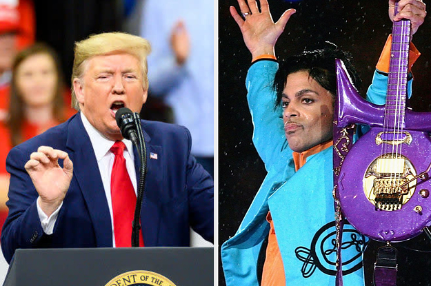 """Prince's Estate Slammed Trump For Playing """"Purple Rain"""" At A Rally"""
