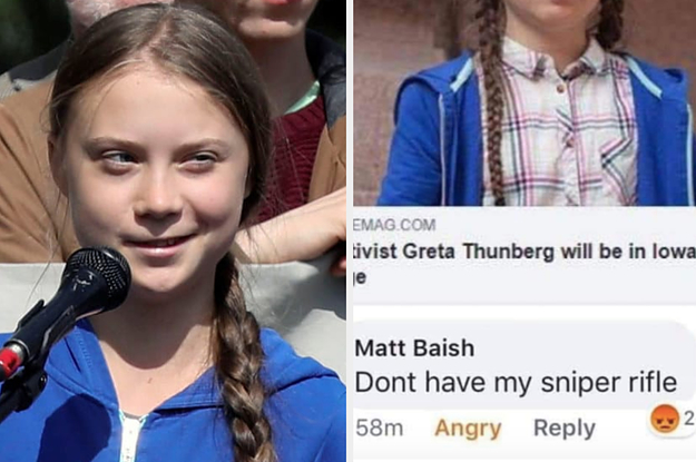 "A High School Teacher Who Made A ""Sniper Rifle"" Facebook Comment About Greta Thunberg Has Resigned"