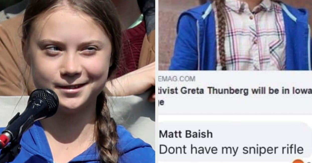 """A High School Teacher Who Made A """"Sniper Rifle"""" Facebook Comment About Greta Thunberg Has Resigned"""
