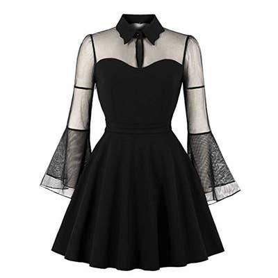 the black mesh dress