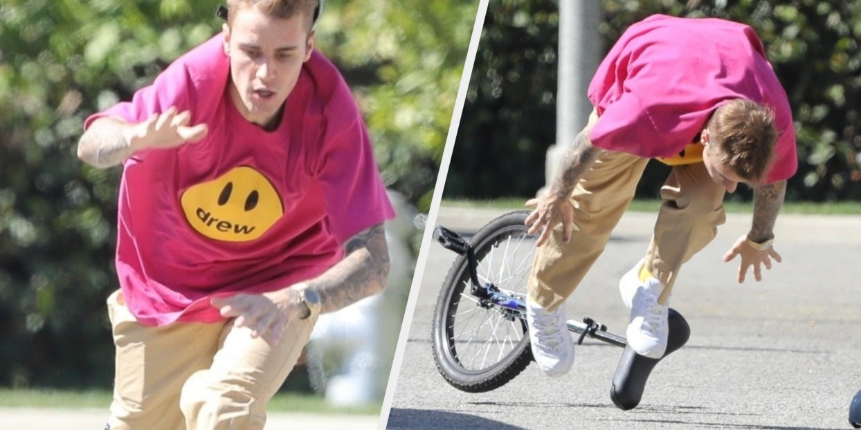 Justin Bieber Fell Off A Unicycle And The Photos Are Worth A Thousand Words