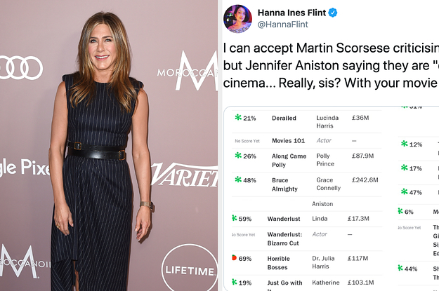 Jennifer Aniston Dragged Marvel Movies And Now People Are Dragging Her Back