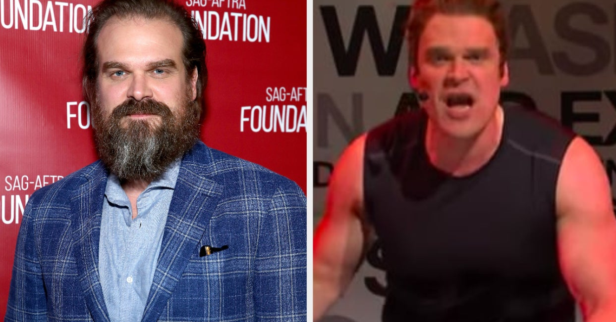 """David Harbour Hosted """"SNL"""" And People Couldn't Stop Talking About His Arms"""