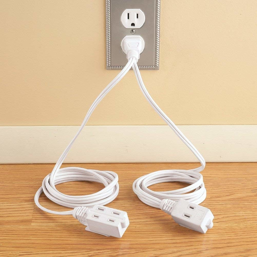 a white double power cord