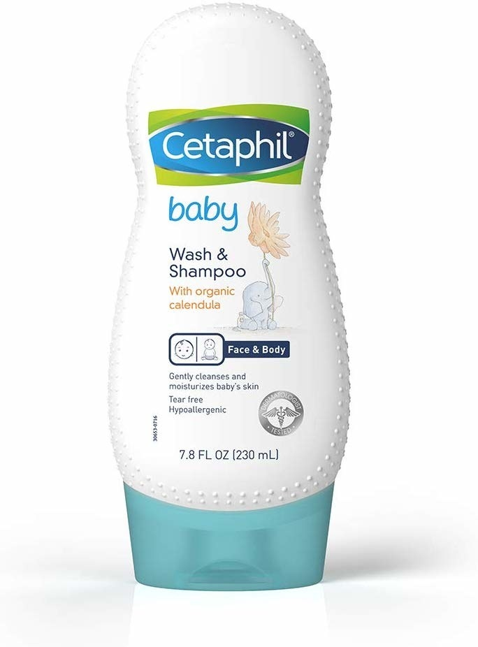 A bottle of Cetaphil Baby Wash and Shampoo.