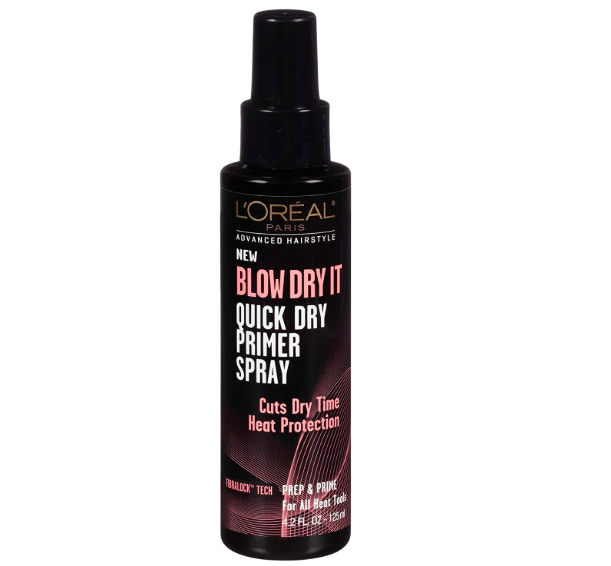 A bottle of L'Oreal's Blow Dry It.