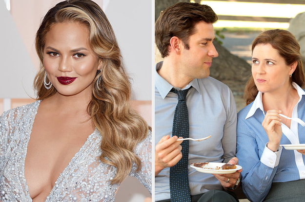 "Chrissy Teigen Thinks Jim And Pam From ""The Office"" Are Divorced Now And She Has Receipts"
