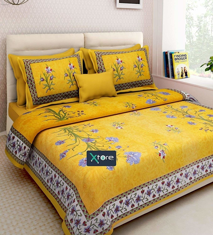 A yellow bedsheet