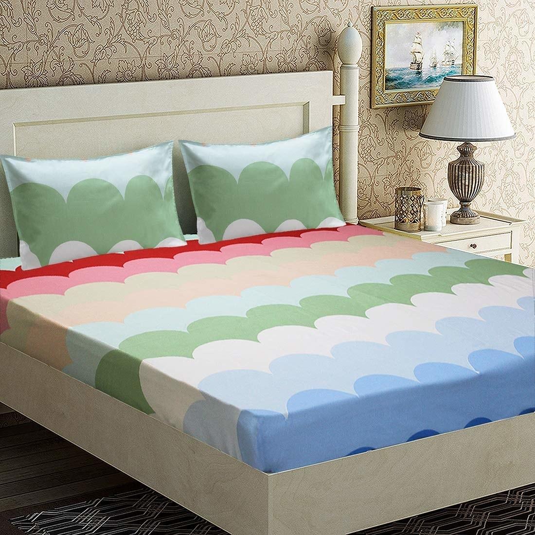 A pastel wavy bedsheet