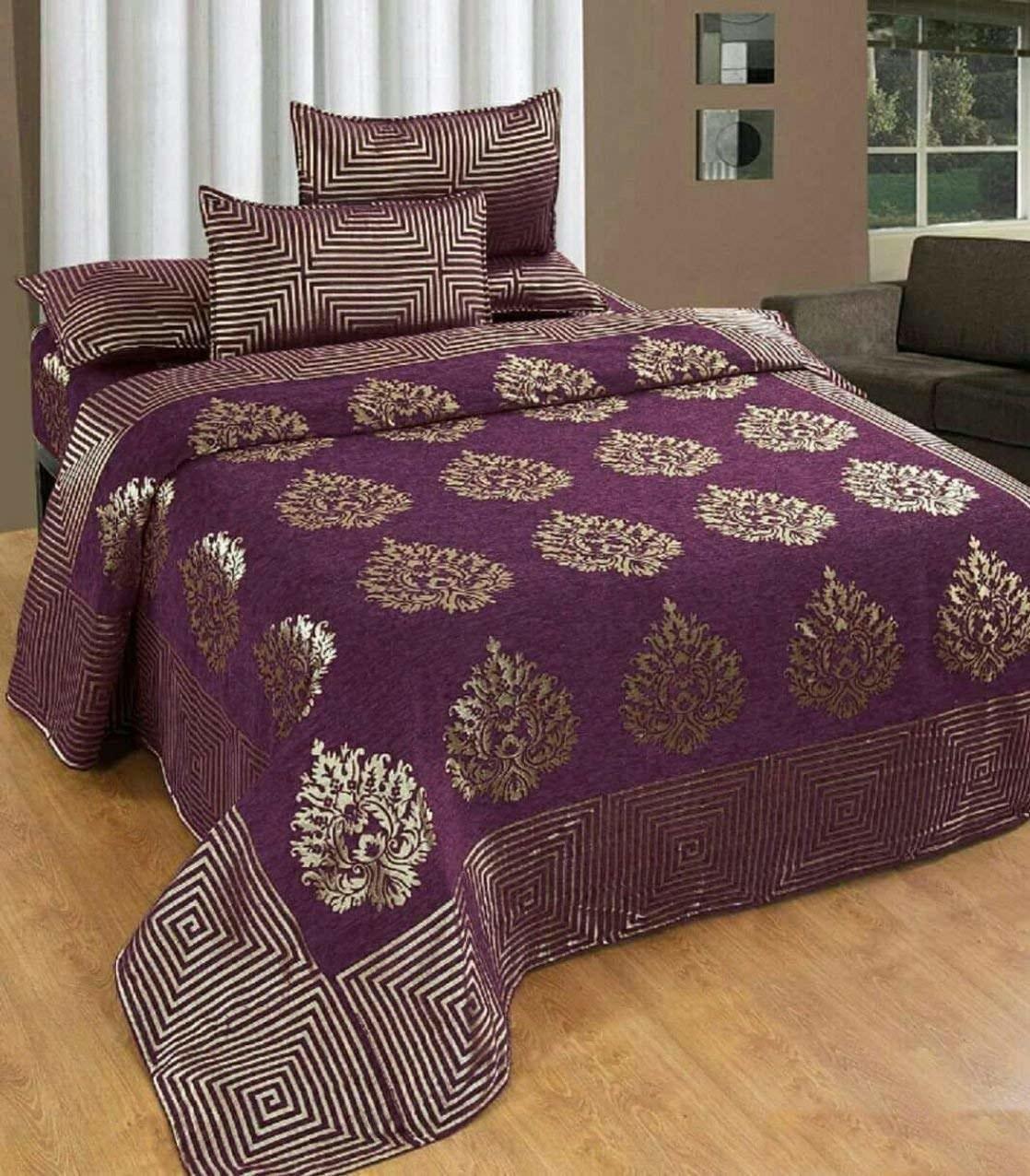 A purple bedsheet