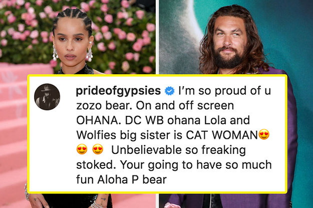 Zoë Kravitz And Jason Momoa Had A Really Cute Instagram Interaction Over Her Catwoman Casting
