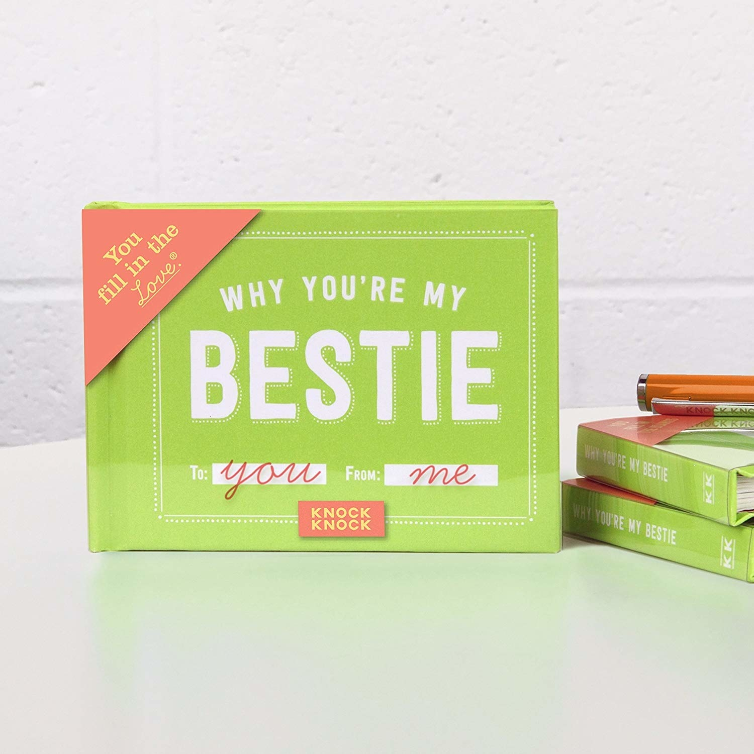 A small book that says why you're my bestie on the cover