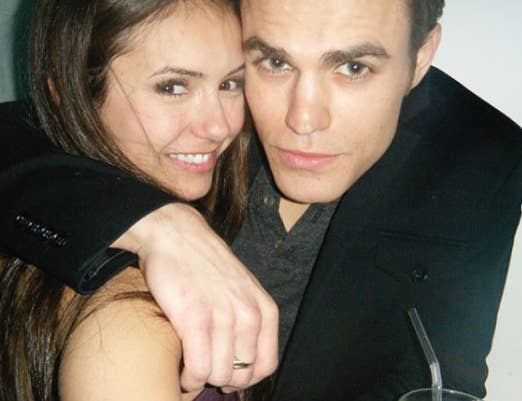 Nina dobrev and paul wesley