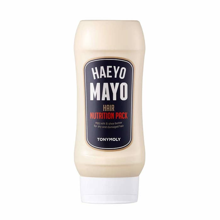 the bottle, which looks like a mayonnaise bottle