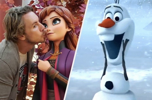 """Dax Shepard Kissing His Wife's """"Frozen"""" Statue Is The Cutest Thing You'll See Today"""
