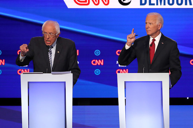 Joe Biden Is Still A Frontrunner. But At Tuesday's Debate He Was An Afterthought.