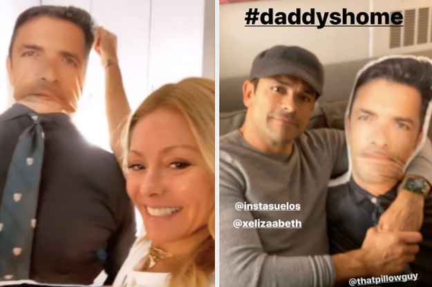A Fan Gave Kelly Ripa A Pillow With Mark Consuelos's Face On It, And She Absolutely Loved It