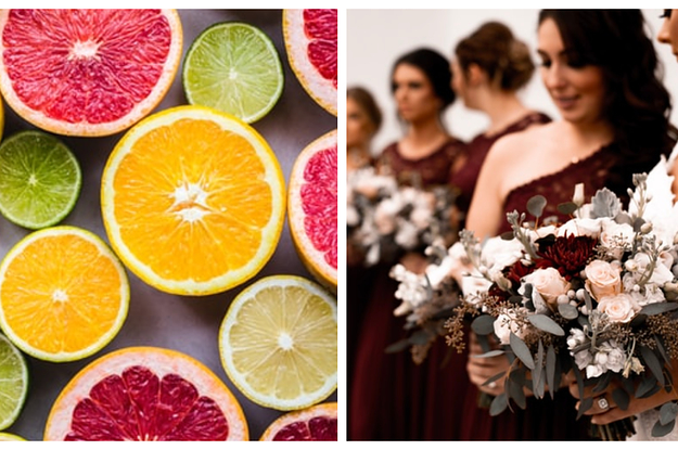 Choose Some Foods And Well Reveal What Color Bridesmaids Dresses Youll Have