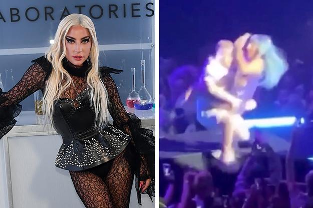 A Video Of Lady Gaga Falling Off ...