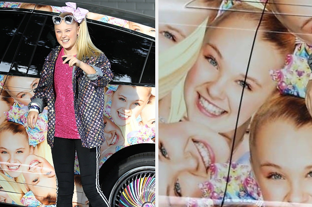 JoJo Siwa's Car Is Covered Entirely ...