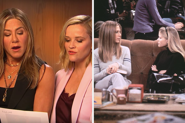 "Jennifer Aniston And Reese Witherspoon Recreated An Iconic ""Friends"" Scene And It Was Very Adorable"