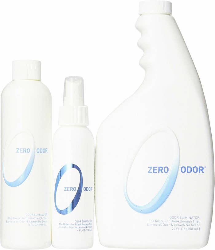 Three bottles of the odor remover