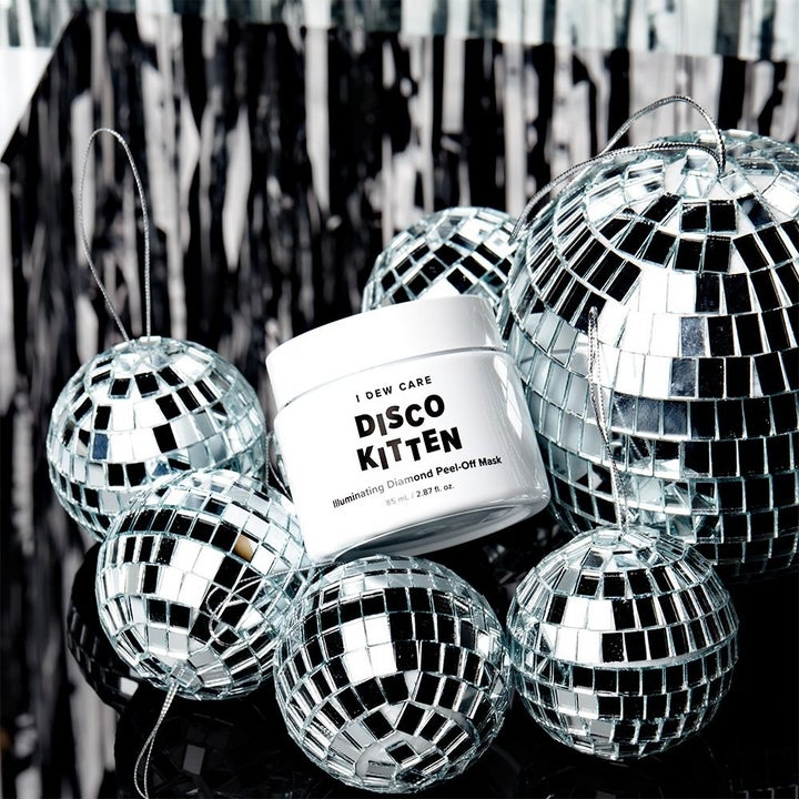 jar next to disco balls