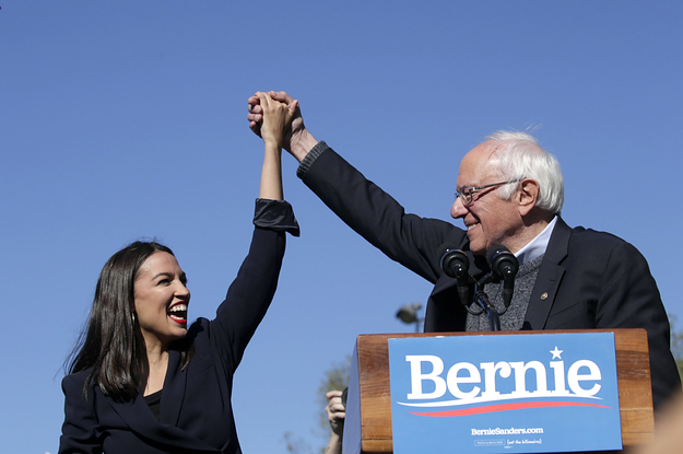 Bernie Sanders Returns To The Trail With AOC, A Giant Crowd, And A Defiant Campaign