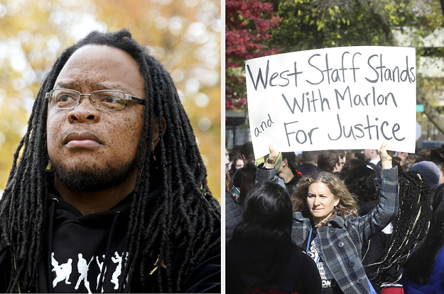 Students Protested To Support A Black Security Guard Who Was Fired Over A Racial Slur