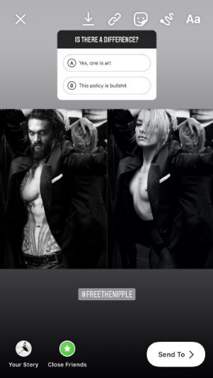 Amber Heard Sex Porn Captions - Amber Heard Called Out Instagram's Double Standards On Nudity With A Topless  Photo Of Jason Momoa