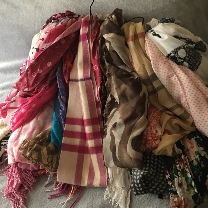 A reviewer's scarves