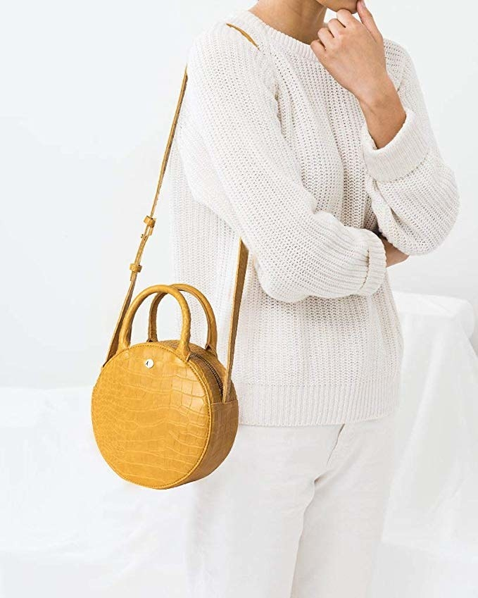 JENOR Oval Leather Bottom With Holes For Knitting Bag Handbag DIY Shoulder Crossbody Bags Accessories