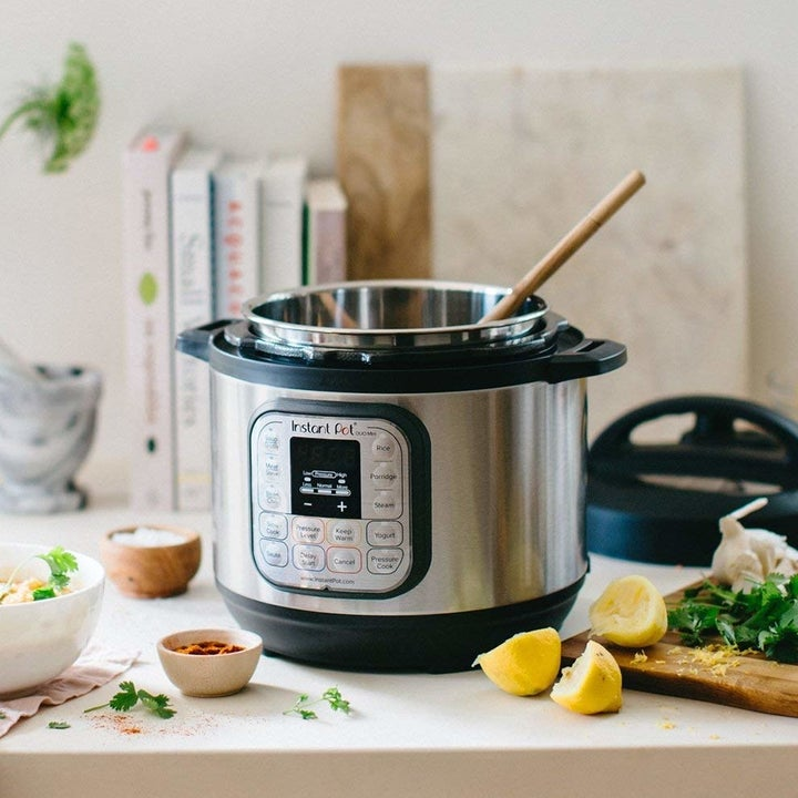 an instant pot on a kitchen counter
