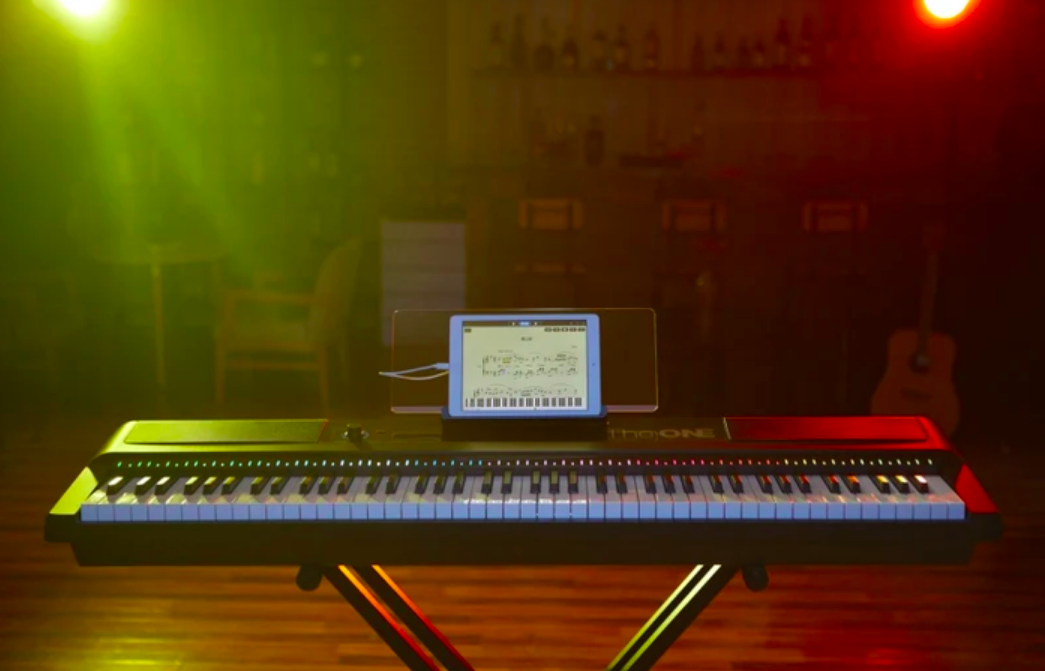 Keyboard with iPad app playing