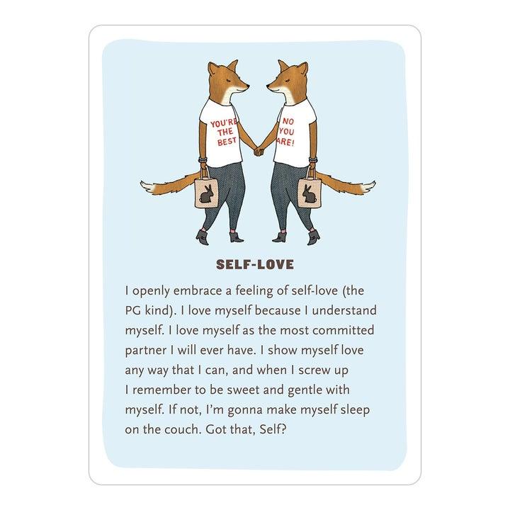 a single affirmation card