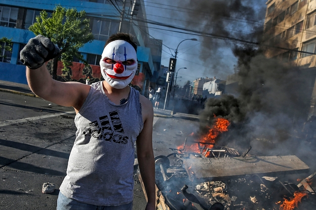 These Photos Show The Huge Protests Triggered By A Rise In Subway Fares In Chile