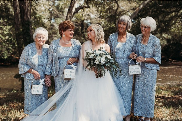 This Bride Made Her Grandmothers Flower Girls, And The Photos Are The Cutest Thing