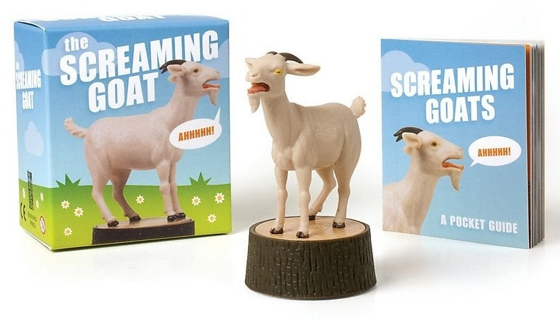 The goat figurine, plus the box it comes in and the booklet