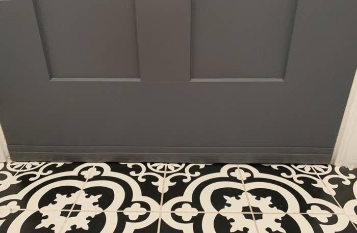 The door stopper in gray