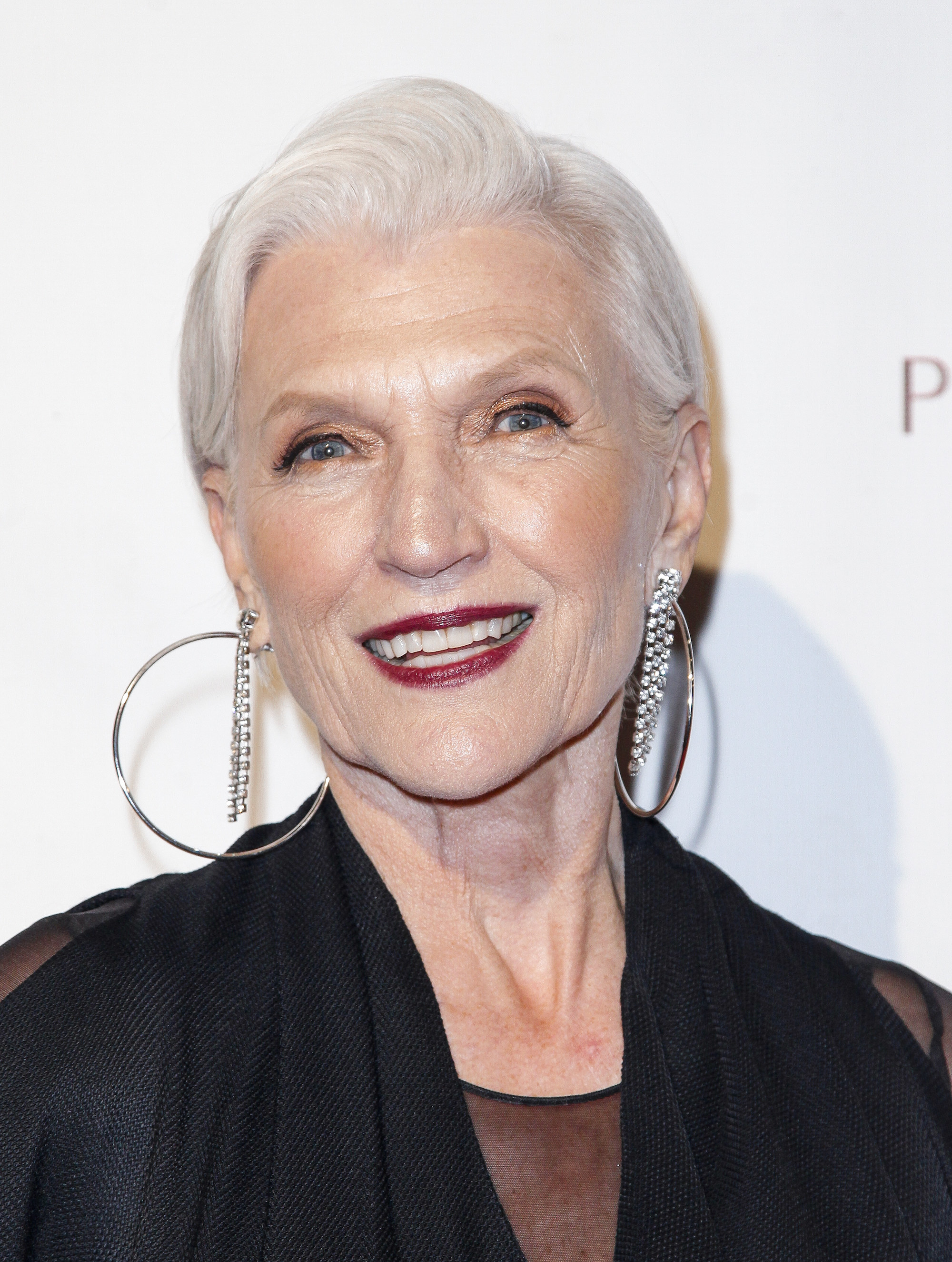 Maye Musk photographed by Steven Trumon Gray. Makeup by
