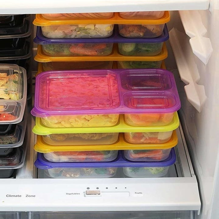 boxes placed in fridge