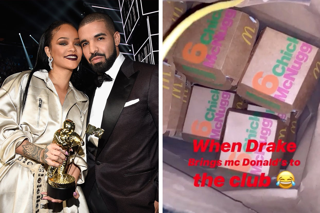 Rihanna Apparently Had McDonald's In The Club At Drake's Birthday Party Because She's An Icon And...