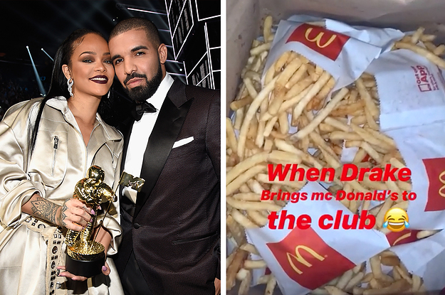 Rihanna Went To Drake's Birthday Party, Possibly Ate McDonald's In The Club, Then Went Home, And It's A Big Mood