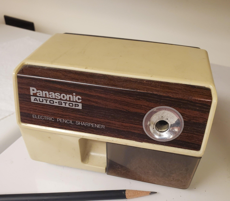 A Panasonic Auto-Stop Electric Pencil Sharpener