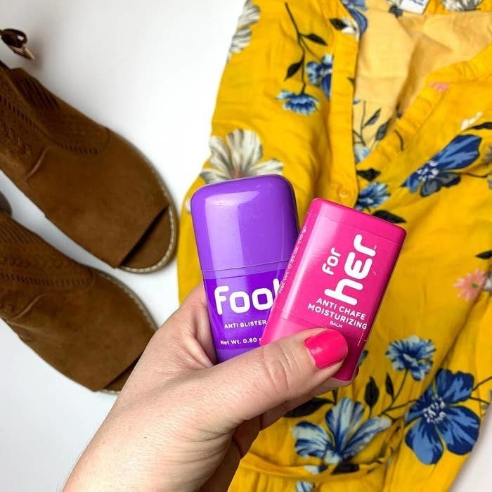 Two tiny tubes of the Body Glide blister and chafe balm