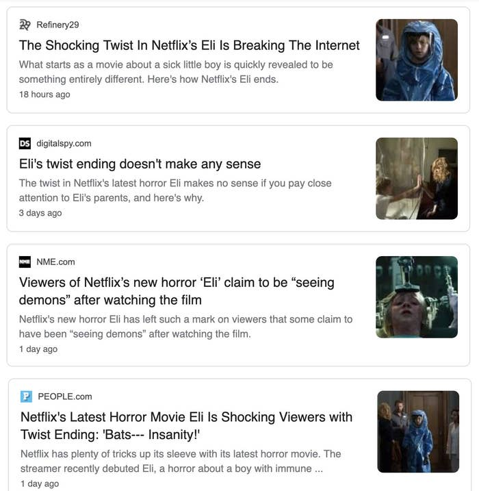 Eli On Netflix Is Supposedly Making Viewers See Demons Out Of