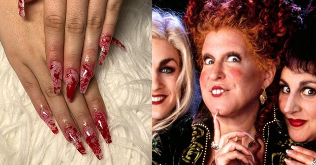 Twitter Is Sharing Halloween Nail Art And They're Equally Scary And Beautiful