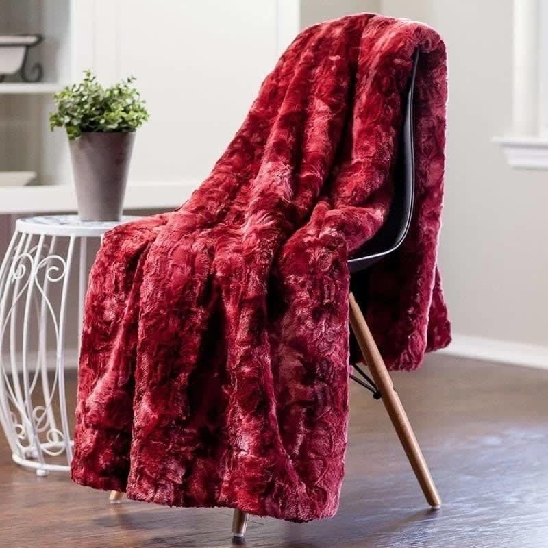 red microfiber blanket