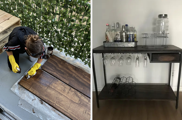 This Bar Cart Ikea Furniture Hack Is Pretty Popular Online, So I Tried It For Myself