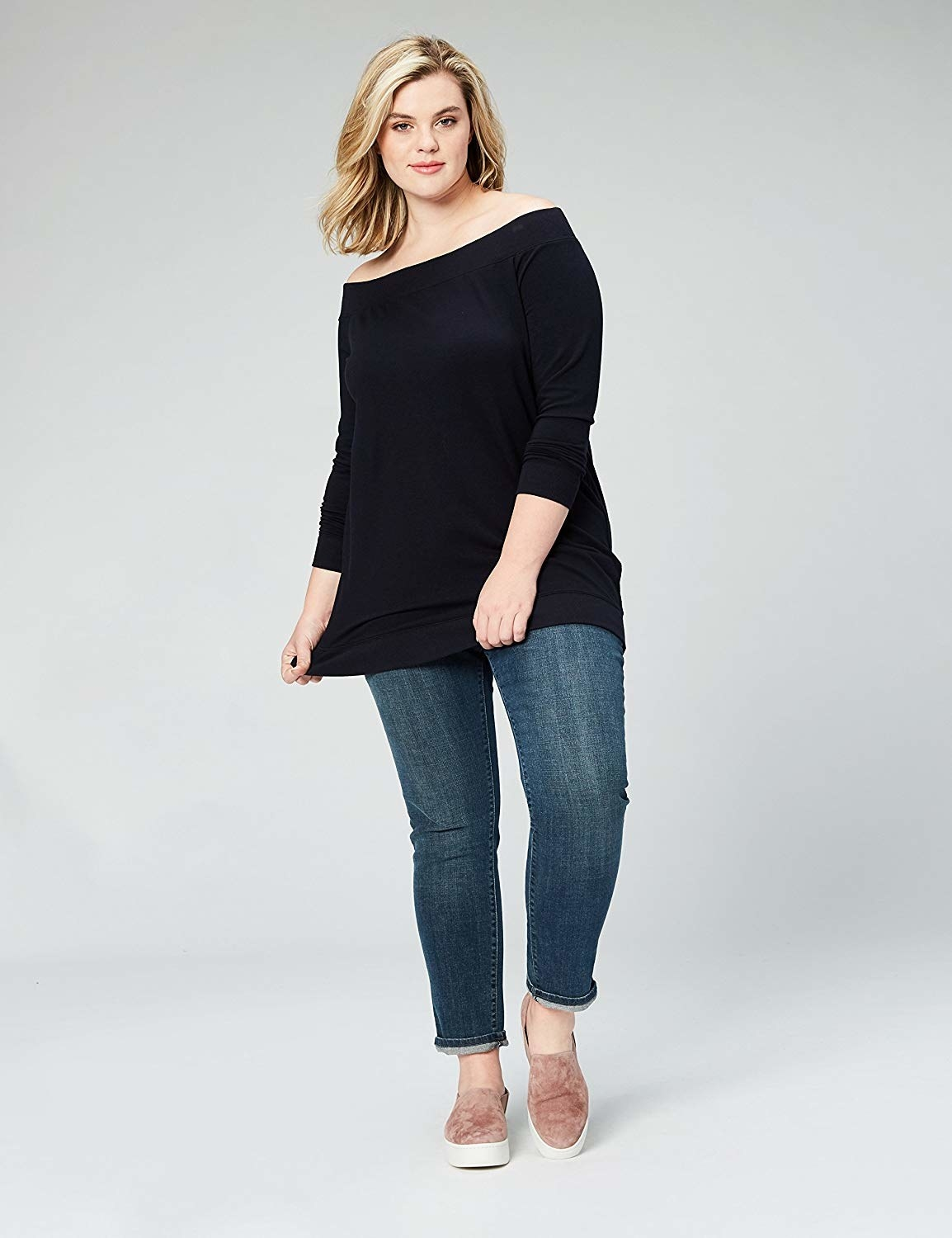 off the shoulder top that's long enough to cover butt